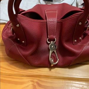 All red leather Rooney and burk purse